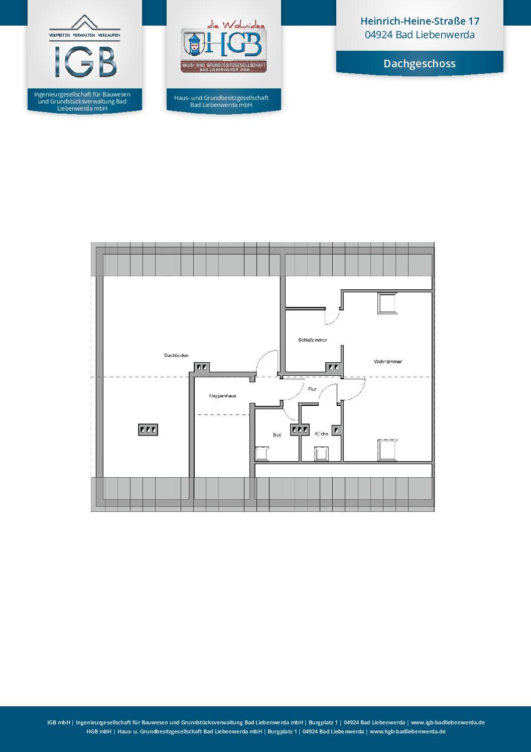 Kuschelige 1-Raum-Wohnung im Dichterviertel von Bad Liebenwerda
